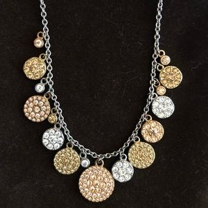 Fossil brand mixed metal sparkle necklace